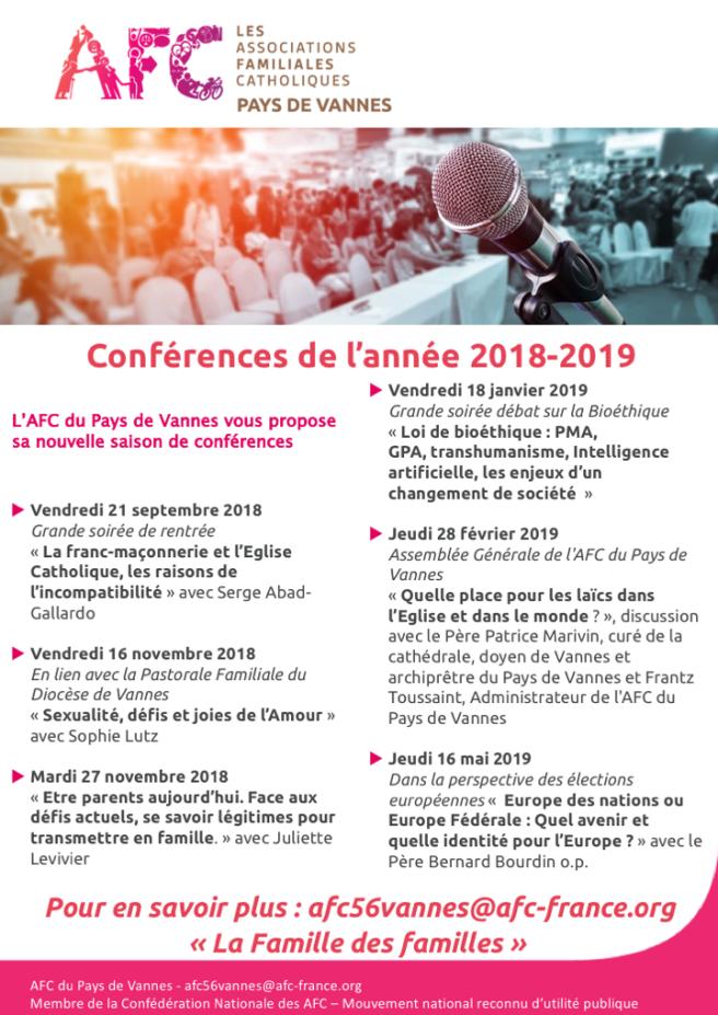 AFC - AfficheA3 - Tract des conférences 2018-2019