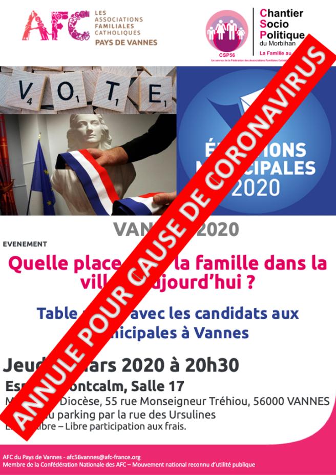 AFC56 Vannes - Municipales 2020 ANNULE